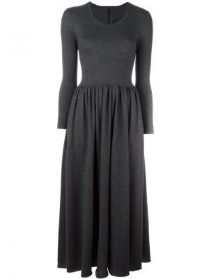 Расклешенное платье Ter Et Bantine. Цвет: серый