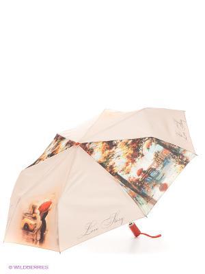 Зонт Zest. Цвет: светло-бежевый, красный, черный