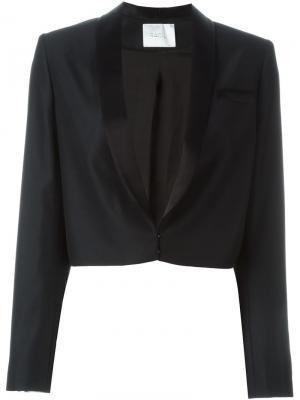 Укороченный пиджак Dallas Racil. Цвет: чёрный