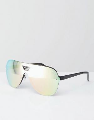 Quay Australia Солнцезащитные очки-авиаторы Showtime. Цвет: золотой