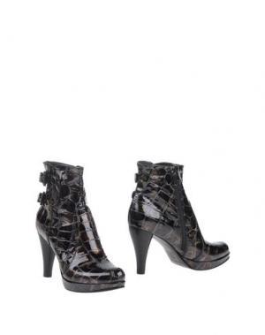 Полусапоги и высокие ботинки DANIELE TUCCI. Цвет: стальной серый