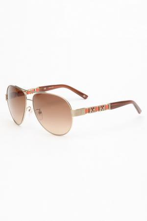 Очки солнцезащитные Escada. Цвет: коричневый