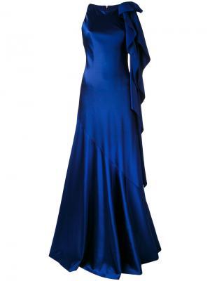 Платье в пол Mohan Talbot Runhof. Цвет: синий