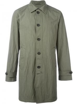 Однобортное пальто John Varvatos. Цвет: зелёный