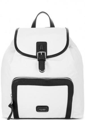 Белый текстильный рюкзак с тонкими лямками Picard. Цвет: белый