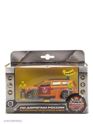 Машина мет. ин. 1:32 Volvo Аварийная служба  Горгаз, откр.двери, свет, звук Пламенный мотор. Цвет: оранжевый
