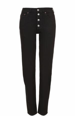 Однотонные джинсы прямого кроя Balenciaga. Цвет: черный