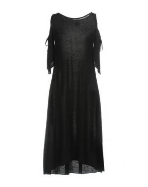 Платье до колена TENAX. Цвет: черный