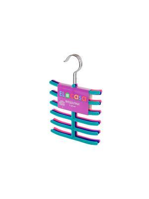 Набор вешалок из 3 штук EL CASA. Цвет: бирюзовый, розовый, синий