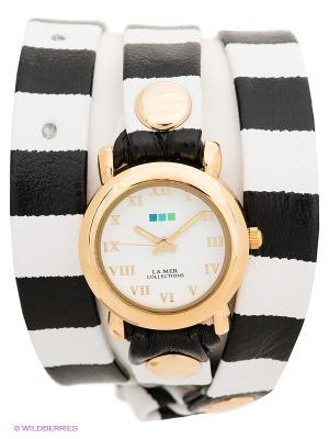 Часы La Mer Collections. Цвет: белый, черный, золотистый