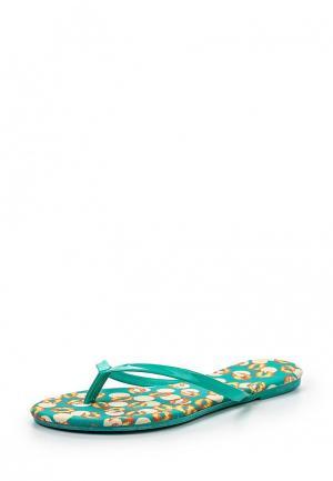 Шлепанцы Librapop. Цвет: зеленый