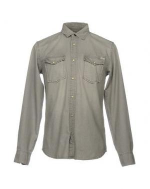 Джинсовая рубашка JACK & JONES. Цвет: свинцово-серый