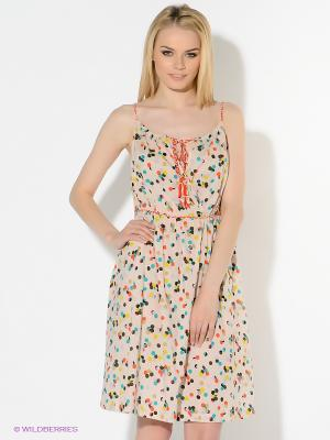 Сарафан American Outfitters. Цвет: кремовый, желтый, оранжевый, темно-зеленый