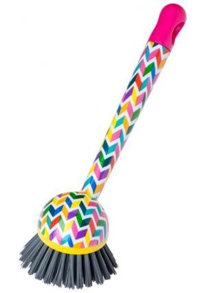 Щетка для посуды VIGAR. Цвет: розовый/мульти