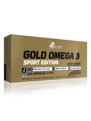Рыбий жир Olimp Nutrition Gold Omega-3 Sport Edition (120 кап.). Цвет: коричневый