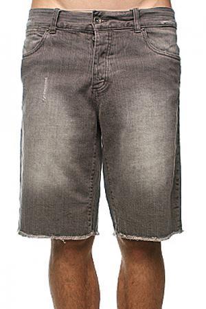 Джинсовые мужские шорты  Klassic Short Grey Krew. Цвет: серый