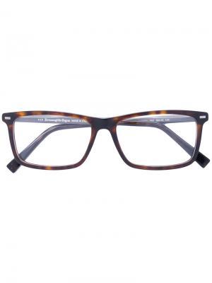 Очки для зрения прямоугольной формы Ermenegildo Zegna. Цвет: чёрный