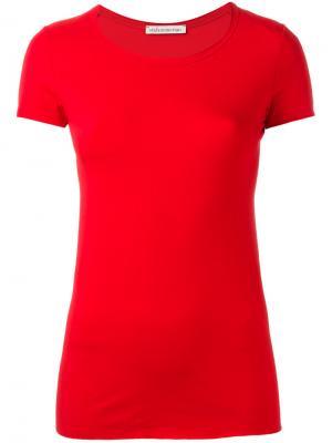 Обтягивающая футболка Stefano Mortari. Цвет: красный