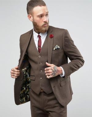 Harry Brown Шерстяной пиджак. Цвет: коричневый