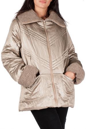 Утепленная куртка с карманами Mannon. Цвет: песочный