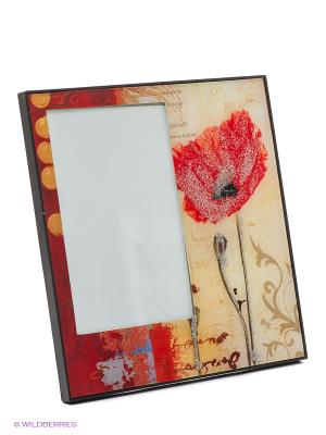 Фоторамка glitter summer flowers VELD-CO. Цвет: красный