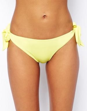 Hoola Плавки бикини с завязками Lites. Цвет: желтый