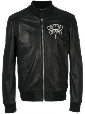 Куртка-бомбер с черепом Philipp Plein. Цвет: чёрный