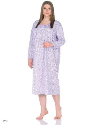 Ночная сорочка lawiggi. Цвет: сиреневый