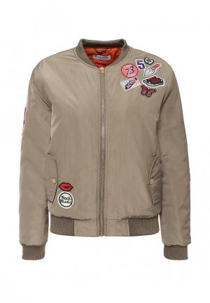 Куртка утепленная GLAMOROUS. Цвет: бежевый