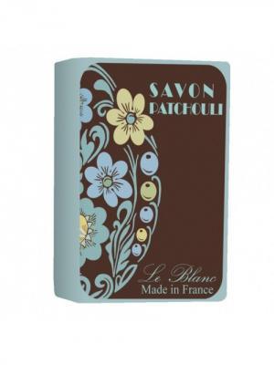 Косметическое мыло в картонной коробке Пачули 100гр. Le Blanc.. Цвет: желтый