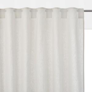 Штора из смесовой ткани льна и хлопка со скрытыми клапанами TAÏMA La Redoute Interieurs. Цвет: белый,бледный сине-зеленый,розовое дерево,светло-серо-коричневый,светло-серый,серо-бежевый,серо-синий,сливовый,темно-серый,экрю