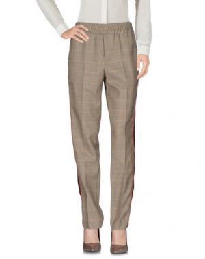Повседневные брюки PALM ANGELS. Цвет: бежевый