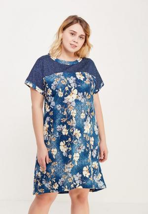 Платье домашнее Лори. Цвет: синий