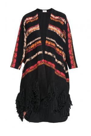 Пальто из шерсти с хлопком 160226 Izeta. Цвет: разноцветный