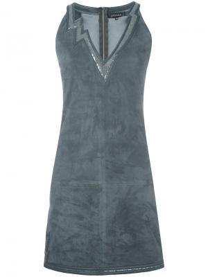 Платье Flash с пайетками Jitrois. Цвет: серый