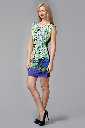 Платье Versace. Цвет: черно-зеленый