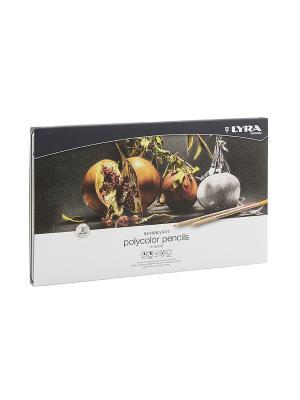 Rembrand polycolor  художественные цветные карандаши, 36 цв в метал коробке. Lyra. Цвет: серый, коричневый, белый