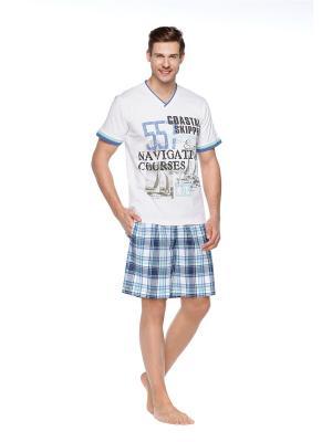 Пижама мужская Kom. Цвет: синий, белый
