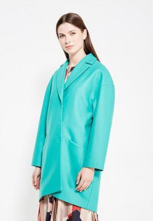 Пальто EMI. Цвет: бирюзовый