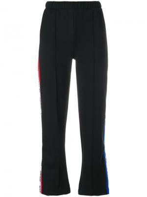 Укороченные брюки с полоску сбоку Être Cécile. Цвет: чёрный