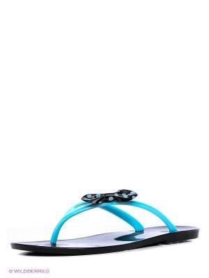 Шлепанцы Mon Ami. Цвет: голубой
