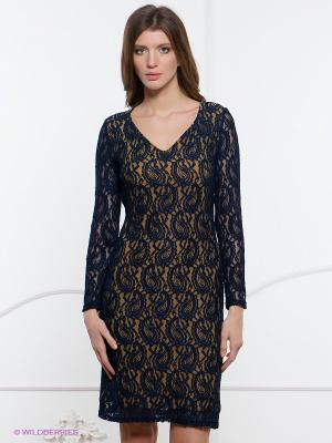 Платье Spicery. Цвет: темно-синий, горчичный