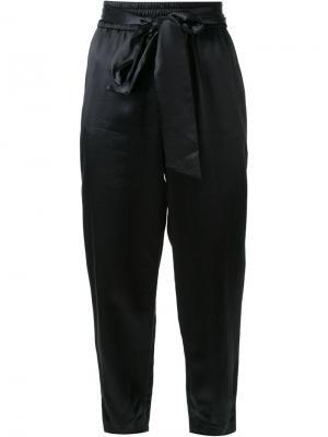 Зауженные брюки с завязками на талии Alice+Olivia. Цвет: чёрный