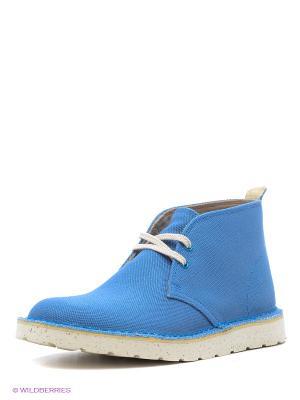 Ботинки Clarks. Цвет: голубой