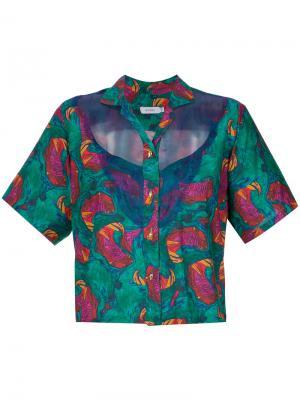 Рубашка с цветочным принтом Isolda. Цвет: многоцветный