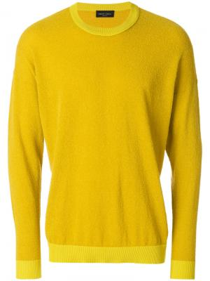 Свитер в стиле оверсайз Roberto Collina. Цвет: жёлтый и оранжевый