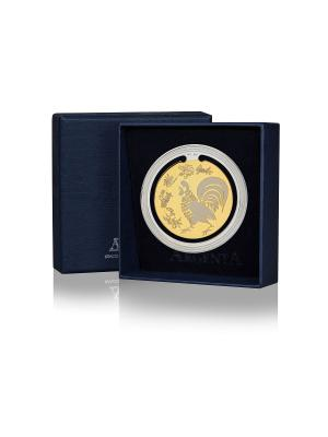 Закладка для книг частично позолоченная с логотипом Петух+футляр АргентА. Цвет: золотистый, серебристый