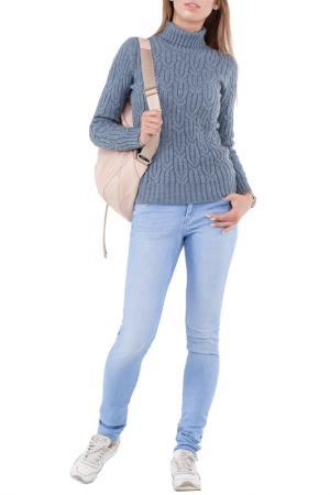 Полуприлегающий свитер с высоким воротом HAPPYCHOICE. Цвет: серый