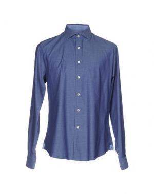 Pубашка GANESH. Цвет: синий