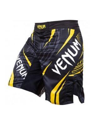 Шорты ММА Venum Lyoto Machida RYUJIN Fightshorts - Black/Yellow. Цвет: черный, желтый